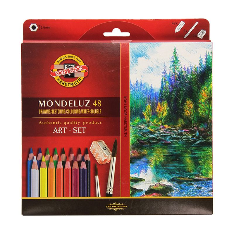 Koh-i-noor Mondeluz Aquarell Drawing Set. 24 36 48 72 Colored Pencils WaterColor Pencils For Write Drawing Art Supplies