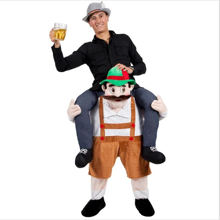 Mascot Costume Novelty Funny Animal Pants Ride On Me Fancy Carry Back Christmas Halloween Oktoberfest Party Adult Costumes