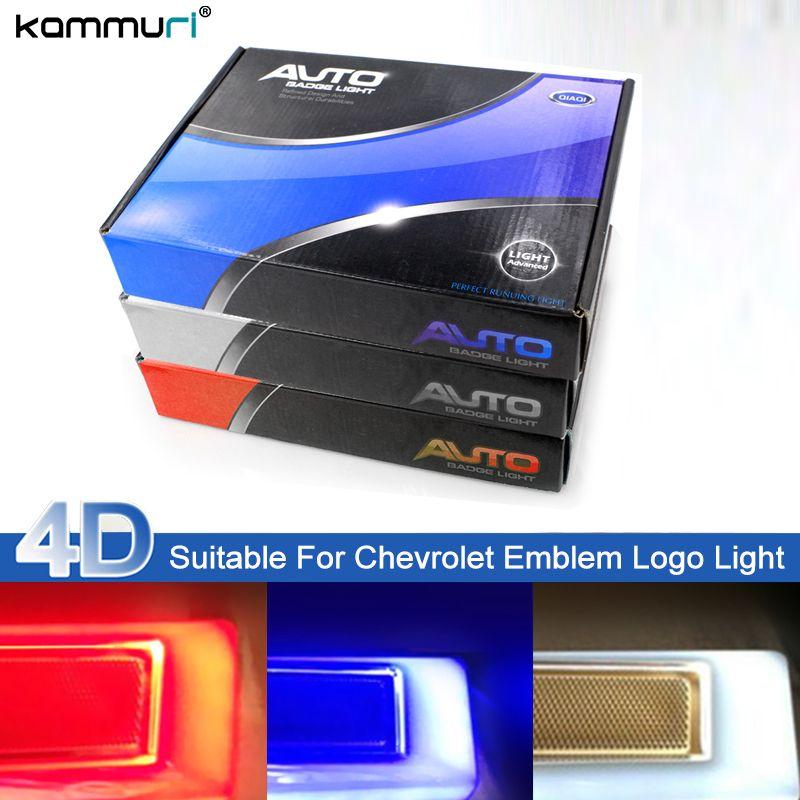 KAMMURI Car Styling 4D Cold Light Rear Emblem Logo Light for chevrolet captiva aveo lacetti spark cruze niva Badge Logo Lights
