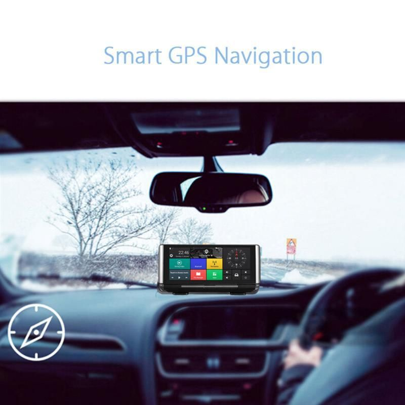 VODOOL Car GPS Navigator 6.86 inch Bluetooth Android 5.0 Navigators Automobile with Car DVR Camera Driving Recorder Vehicle GPS