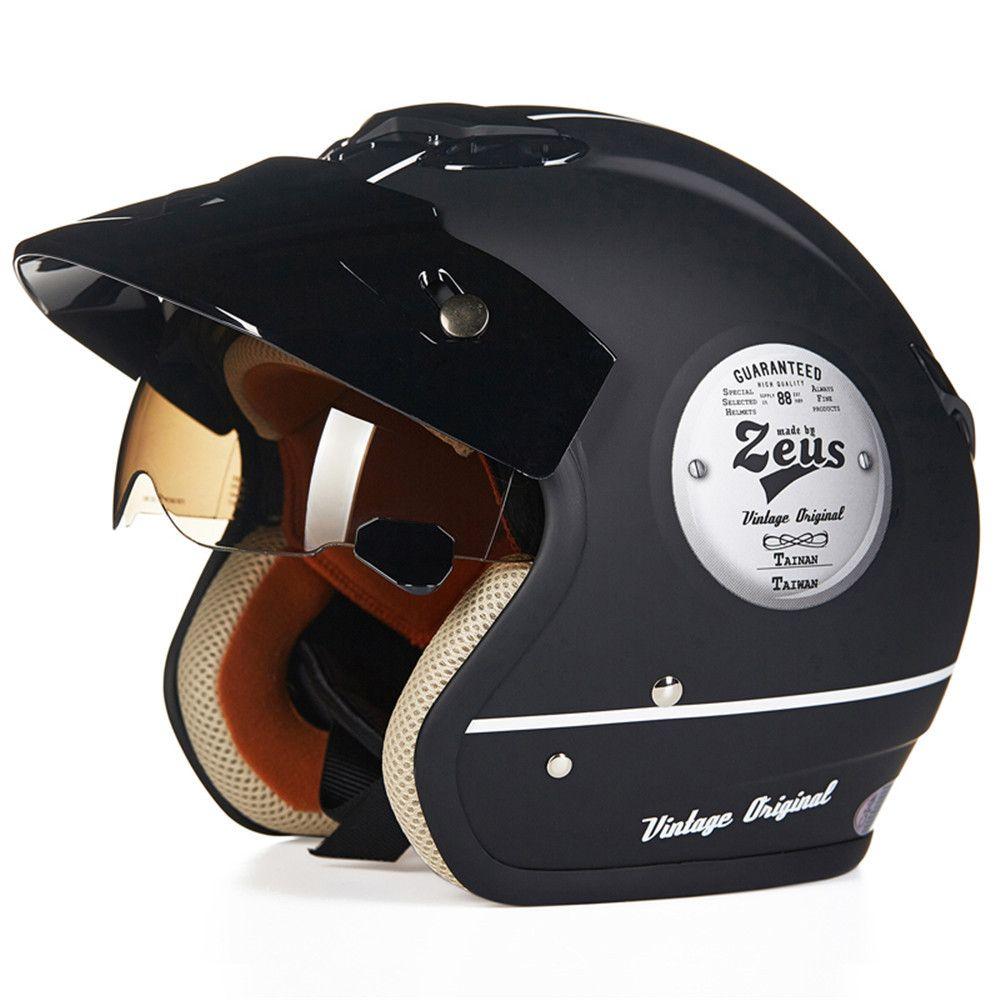 Vintage Cruiser Motorcycle Helmet Chopper 3/4 Open Face Helmet Moto Casque Casco motocicleta Capacete Pilot Retro Harley helmets
