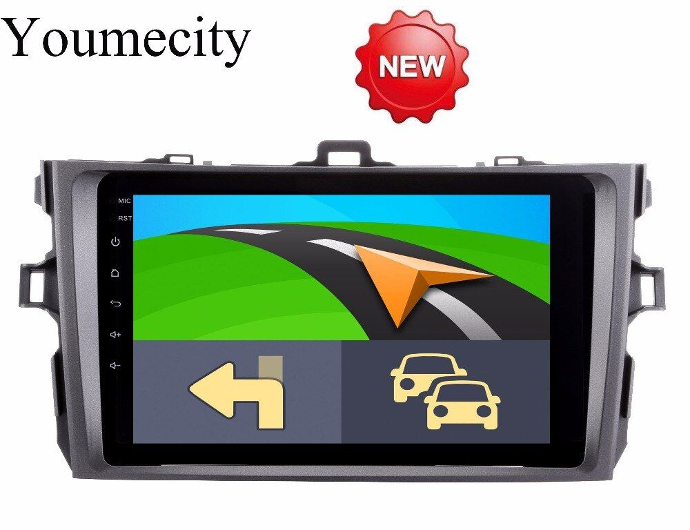 Youmecity Android 8.1 car dvd player for Toyota corolla 2007 2008 2009 2010 2011 in dash 2 din 1024*600 car dvd gps navigation