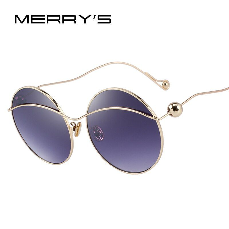 MERRY'S DESIGN Women Butterfly Gradient Sunglasses Round Frame 100% UV Protection S'6361