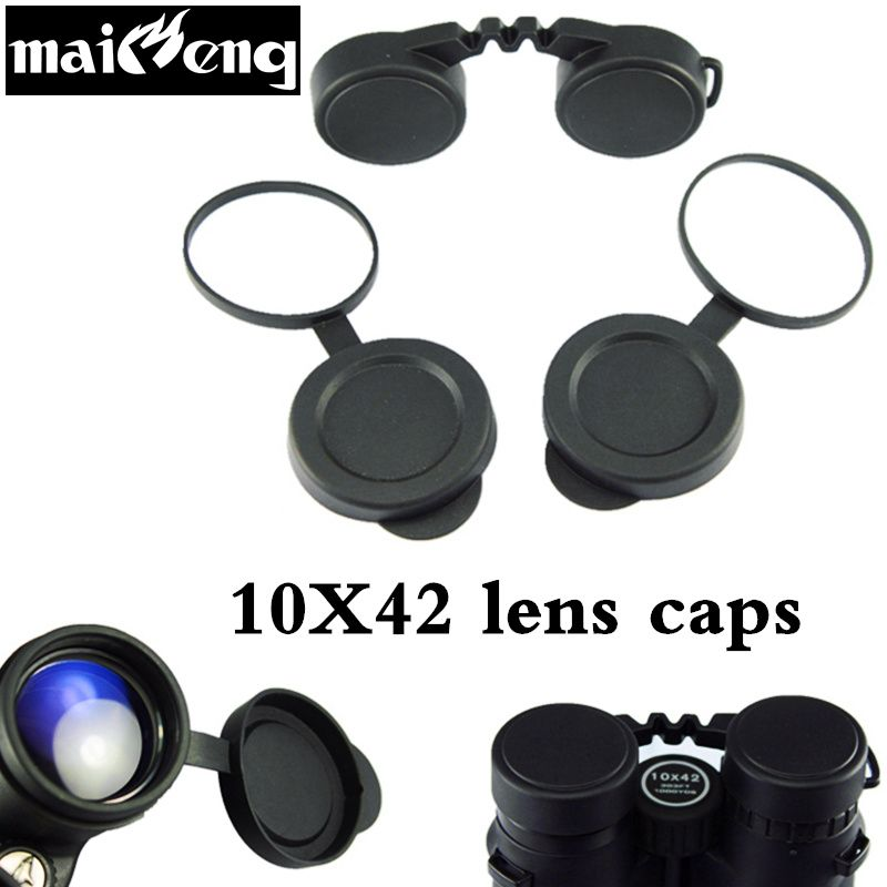 Professionelle 10x42 Fernglas Objektivdeckel Ziel Gummischutz Abdeckung Okular Staub Anzug Für Kompakte Fernglas Beste Schützen