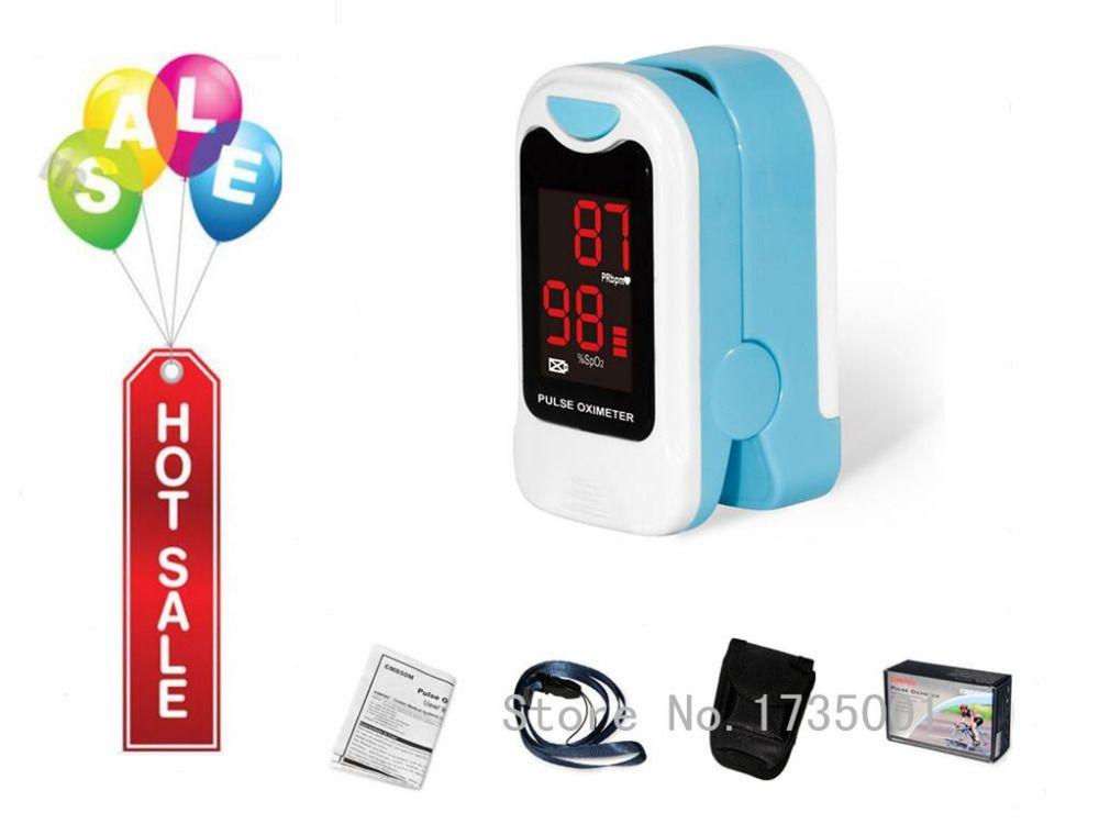 CONTEC CMS50M LED Fingertip Pulse Oximeter,Blood Oxygen Monitor, <font><b>Care</b></font> Health, Pouch
