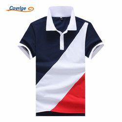 Covrlge 2018 Nouvelle Marque De Mode Hommes Polo Chemise Solide À Manches Courtes Slim Fit Polo Hommes Chemise Hommes Polo Chemises Casual Polo MTP062