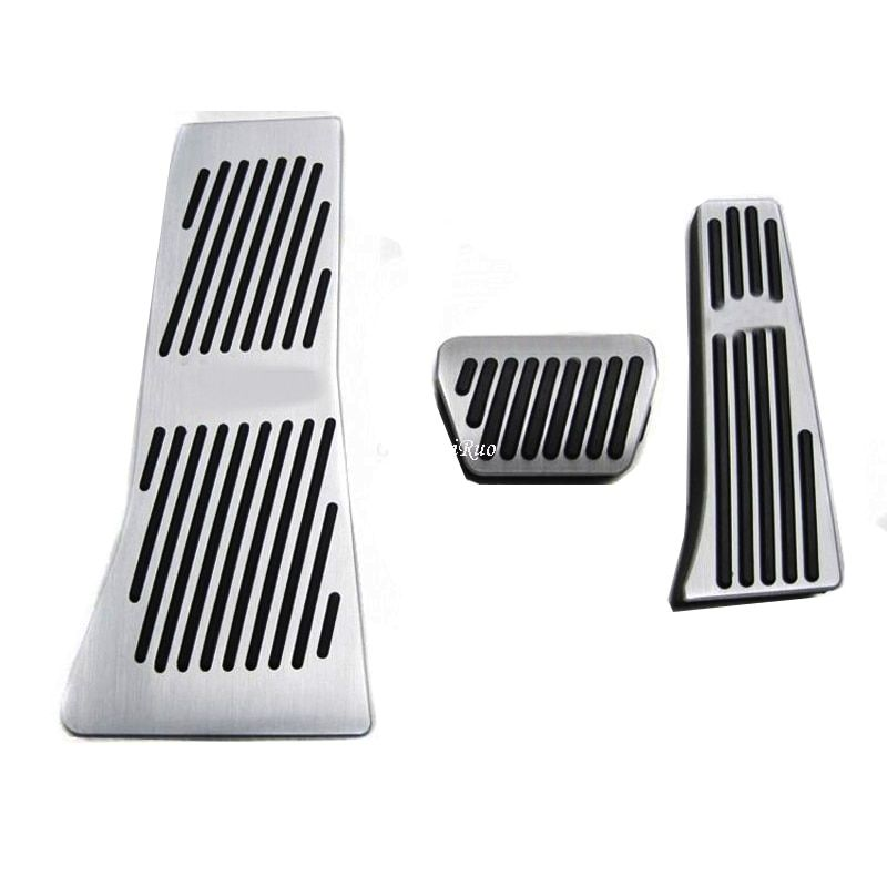 Car Accessories AT Accelerator Brake Foot Rest Pedal Pads For BMW X5 X6 Series E70 E71 E72 F15 with logo