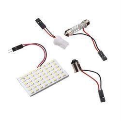 10 pcs De Voiture Blanc LED Plat Lampe de Lecture 1210 48SMD 3528 48 Lumière Feston T10 BA9S