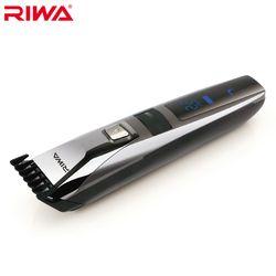 RIWA Étanche Cheveux Tondeuse LCD Affichage Hommes Tondeuse À Cheveux Rechargeable D'une Seule Pièce Biuld-en Peigne de Conception Coupe de Cheveux Machine k3