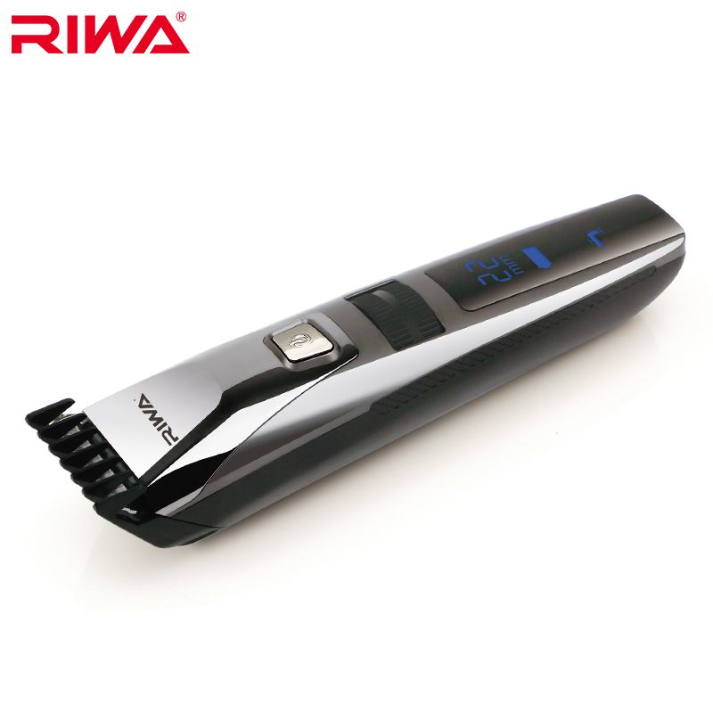 RIWA Waterproof Hair Trimmer LCD Display Men's Hair Clipper Rechargeable One Piece Biuld-in Comb Design Haircut Machine K3