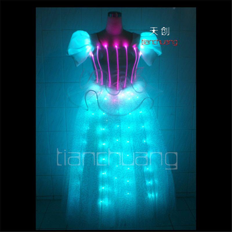 TC-41 Volle colorProgrammable tanzkleid led kostüme ballroom sänger trägt bühnenshow kleidung disco hochzeit bunte beleuchtung