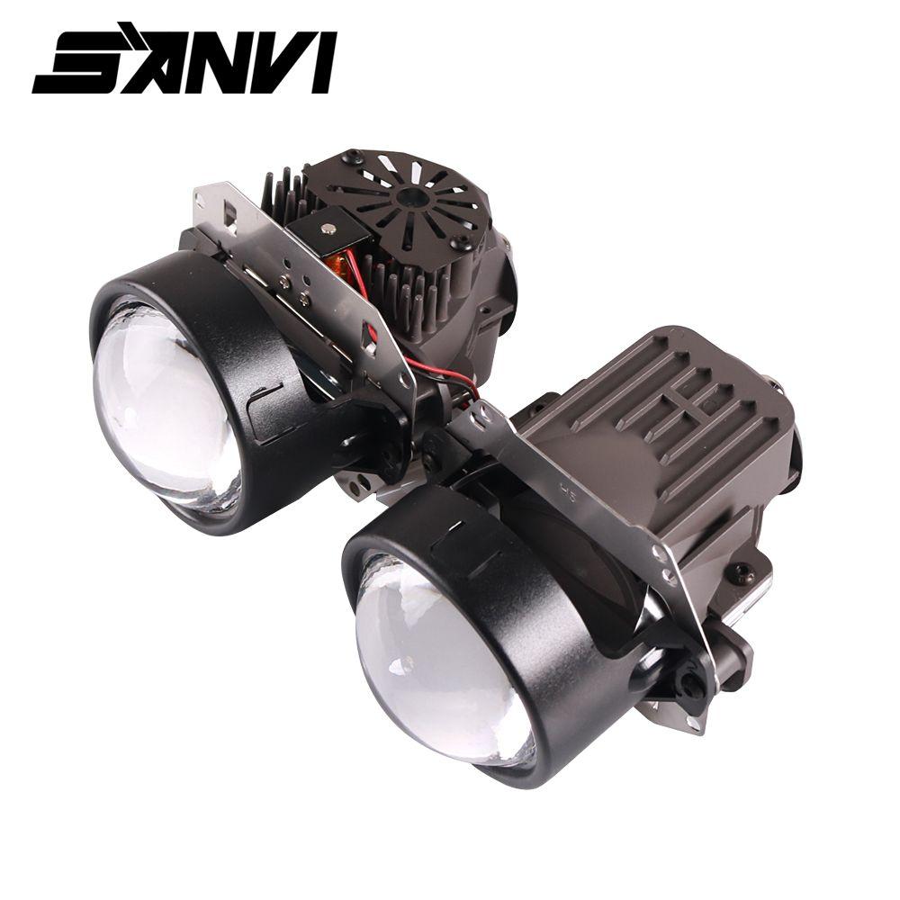 Sanvi X1 35 W 5000 K Bi LED Projektor Objektiv Scheinwerfer 12 V Hallo/Abblendlicht LHD und RHD LED Scheinwerfer H4 H7 9006 Auto Licht Retrofit Kits