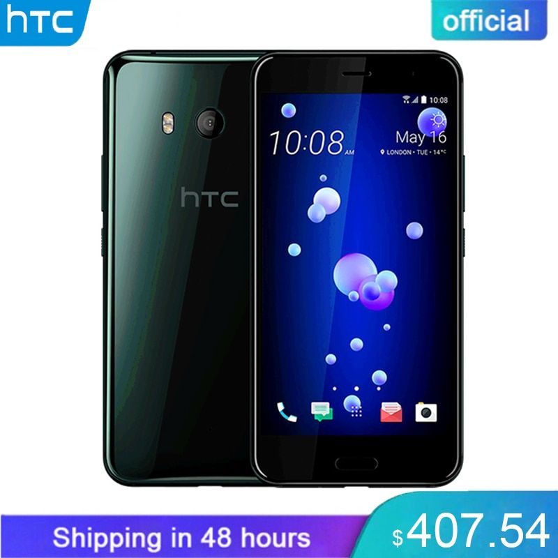 Original HTC U11 6GB RAM 128GB ROM Snapdragon 835 Fingerprint 4G LTE 5.5 inch IP67 Waterproof 2560x1440p 16.0 MP Mobile Phone