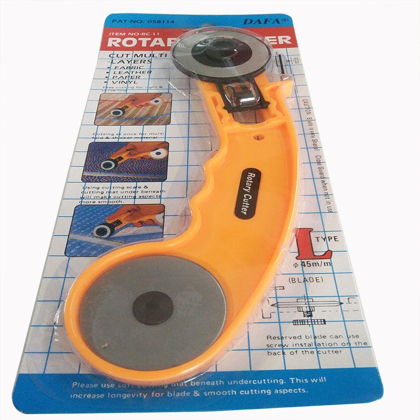 MAPA Marque 45mm rotary cutter lames avec poignée pour le tissu en cuir papier et vinyle