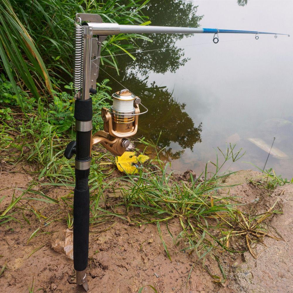 1.8m 2.1m 2.4m 2.7m acier inoxydable automatique canne à pêche filature canne télescopique automatique pôle de pêche mer rivière lac pôle