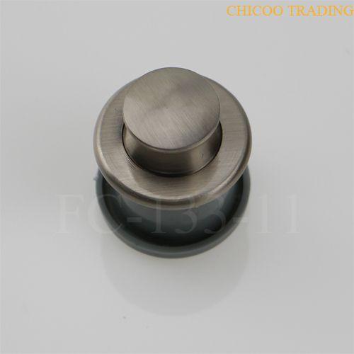 Alliage de Zinc et ABS en plastique push button bouton Nickel satiné meubles tiroir poignée encastrée poignée encastrée poignée