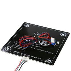 Anet A6 A8 E10 E12 Amélioré MK3 heatbed 220*220/300*300*3mm En Aluminium chauffée Lit avec ligne foyer pour RepRap i3 3d imprimante pièces