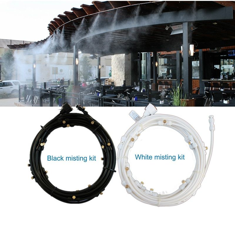 F297 Outdoor Misting Cooling System Kit for Greenhouse Garden Patio Waterring Irrigation Mister Line 6M-18M System