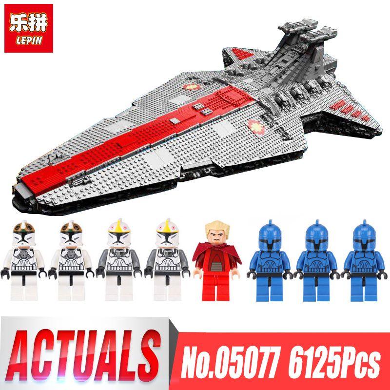 Lepin 05077 Sternzerstörer Wars LegoINGly Klassische Ucs ST04 Set Republic Cruiser Bausteinziegelsteine Spielzeug Modell Kinder Geschenke