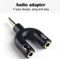 U Form One or Two 3.5mm Stereo Audio Audio Adapter Adapter Headphone Splitter Mic Audio Connector Adapter Port Single Adapt