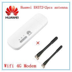 Разблокированный huawei E8372 (плюс пара антенны) LTE USB Wingle LTE Универсальный 4G USB wifi-модем автомобильный wifi E8372h-608 E8372h-153