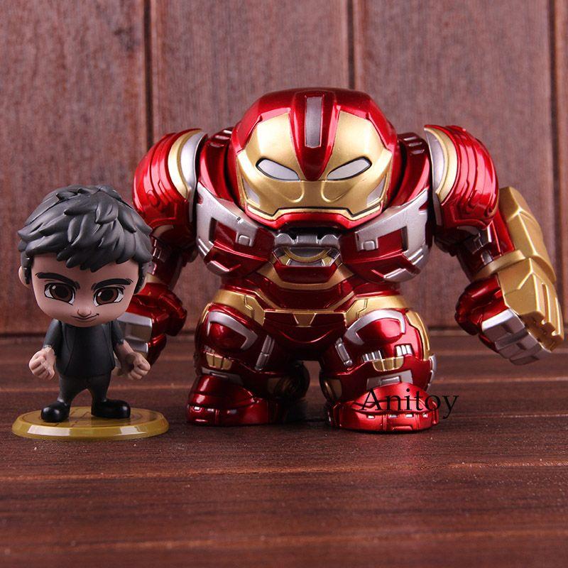 Marvel Avengers Unendlichkeit Krieg Bruce Banner & Hulkbuster Action Figure PVC Sammeln Modell Cosbaby Heißer Spielzeug 2 teile/satz