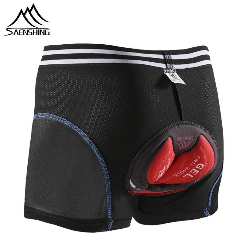 SAENSHING 5D Gel rembourré sous-vêtements de cyclisme descente vtt Shorts hommes vélo de montagne cyclisme Shorts hommes Compression collants Shorts