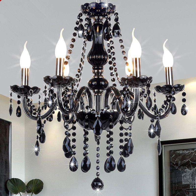 Neue Moderne Schwarz kristall kronleuchter beleuchtung für Wohnzimmer Schlafzimmer innen lampe K9 kristall lüster de teto decke kronleuchter