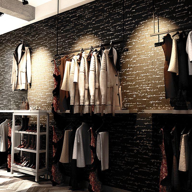 ПВХ поверхности Водонепроницаемый стены Бумага ретро ностальгия английские буквы стены Бумага Кафе Магазин Костюмы магазин ресторан Наст...