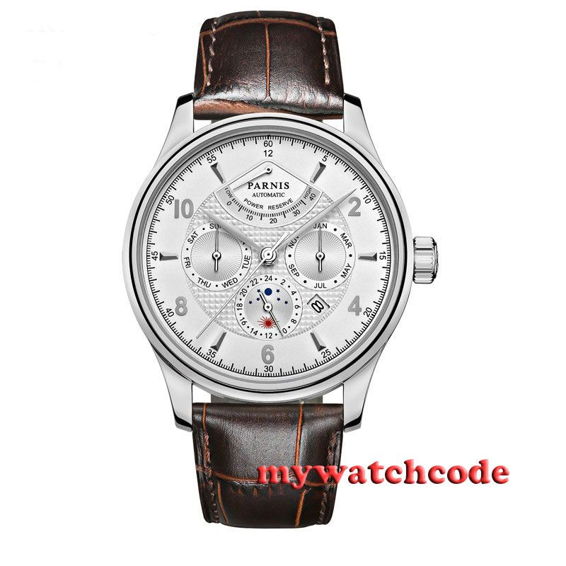 42mm parnis white dial Sapphire Glass 26 jewels miyota Automatic mens Watch P537