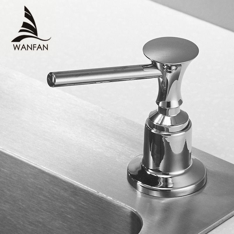 Distributeurs de savon liquide pour cuisine 400ML salle de bains cuisine en plastique bouteille évier remplacement main liquide savon distributeurs Spray 2302