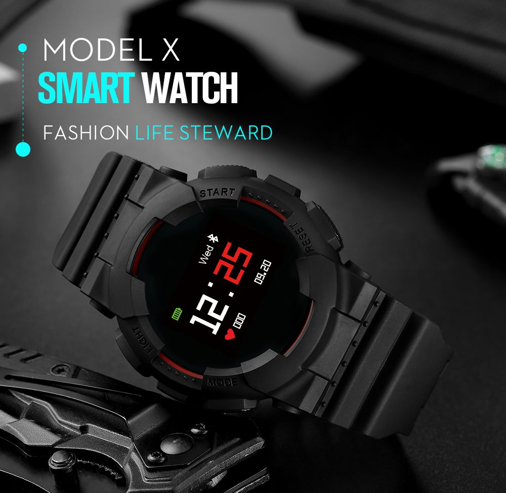 Model X Smart Watch IP68 Waterproof Heart Rate Blood pressure Monitor wireless bluetooth Message Push Smartwatch for IOS Android