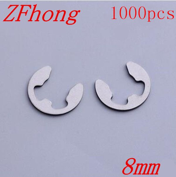 500pcs DIN6799 M8 8mm Stainless Steel E circlips retaining ring for shafts