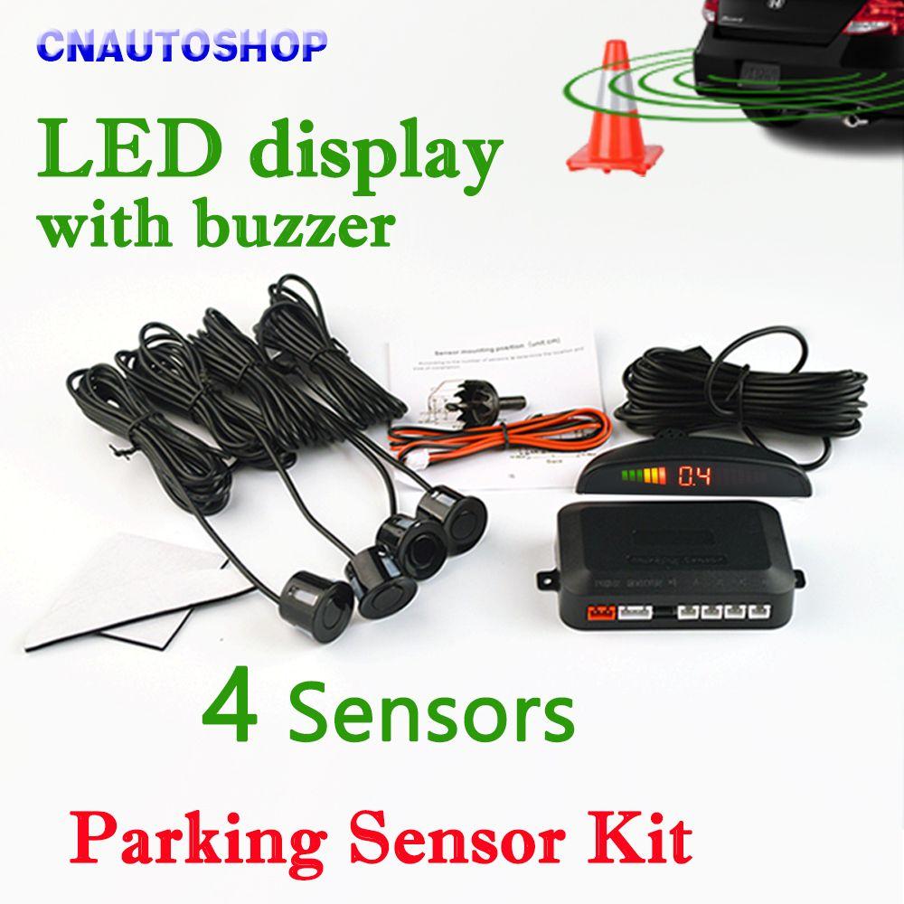 светодиодный датчик парковки с 4 Датчики Авто парктроник обратный 8 цветов резервный Парковка Радар монитор детектор Система подсветки дис...