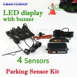 Viecar car LED Sensor de aparcamiento kit 4 Sensores 22mm retroiluminación display reverse backup radar Monitores sistema 12 V 8 colores