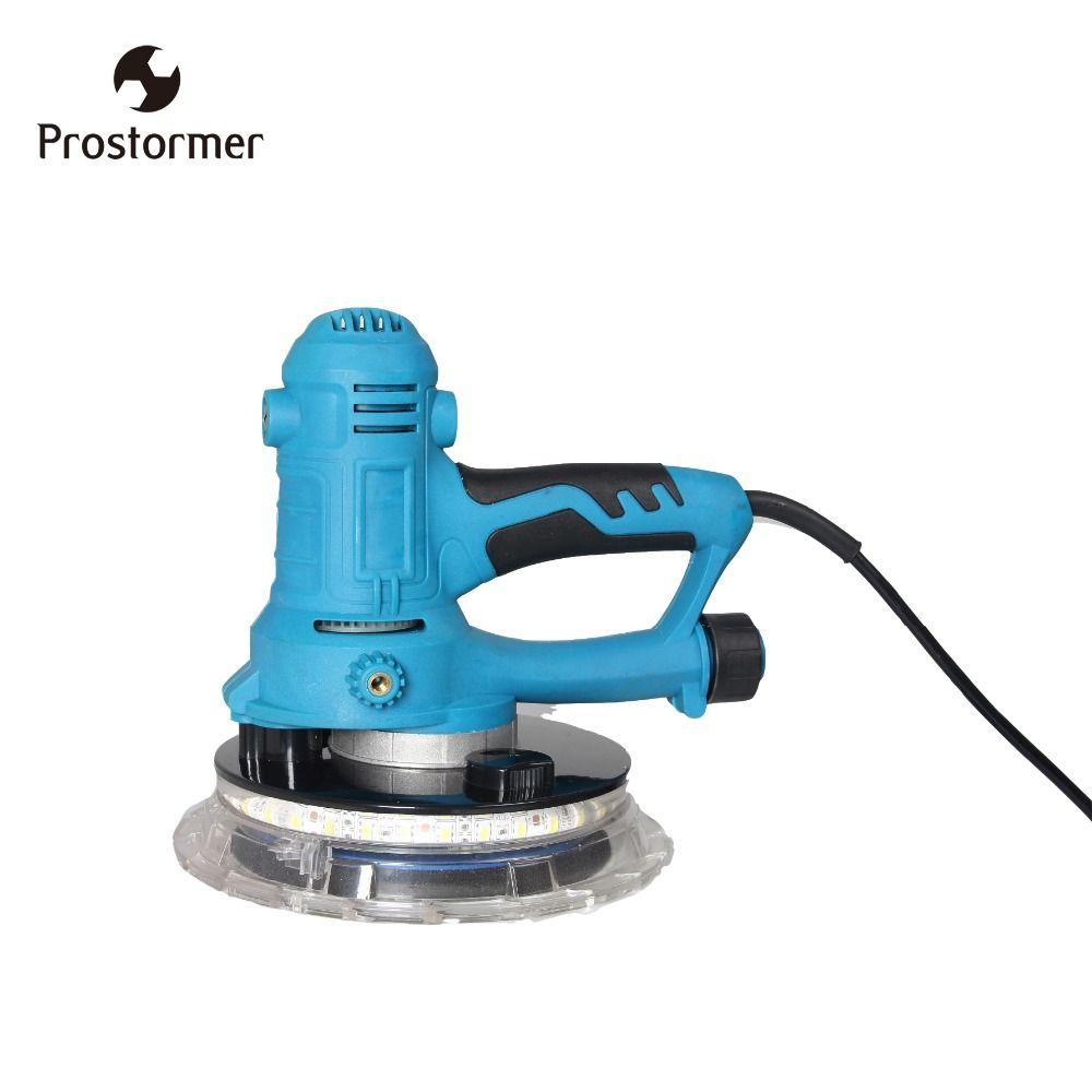 Prostormer 800W wall polishing machine sandpaper machine random track handheld multifunction sander grinder 360 degree LED light