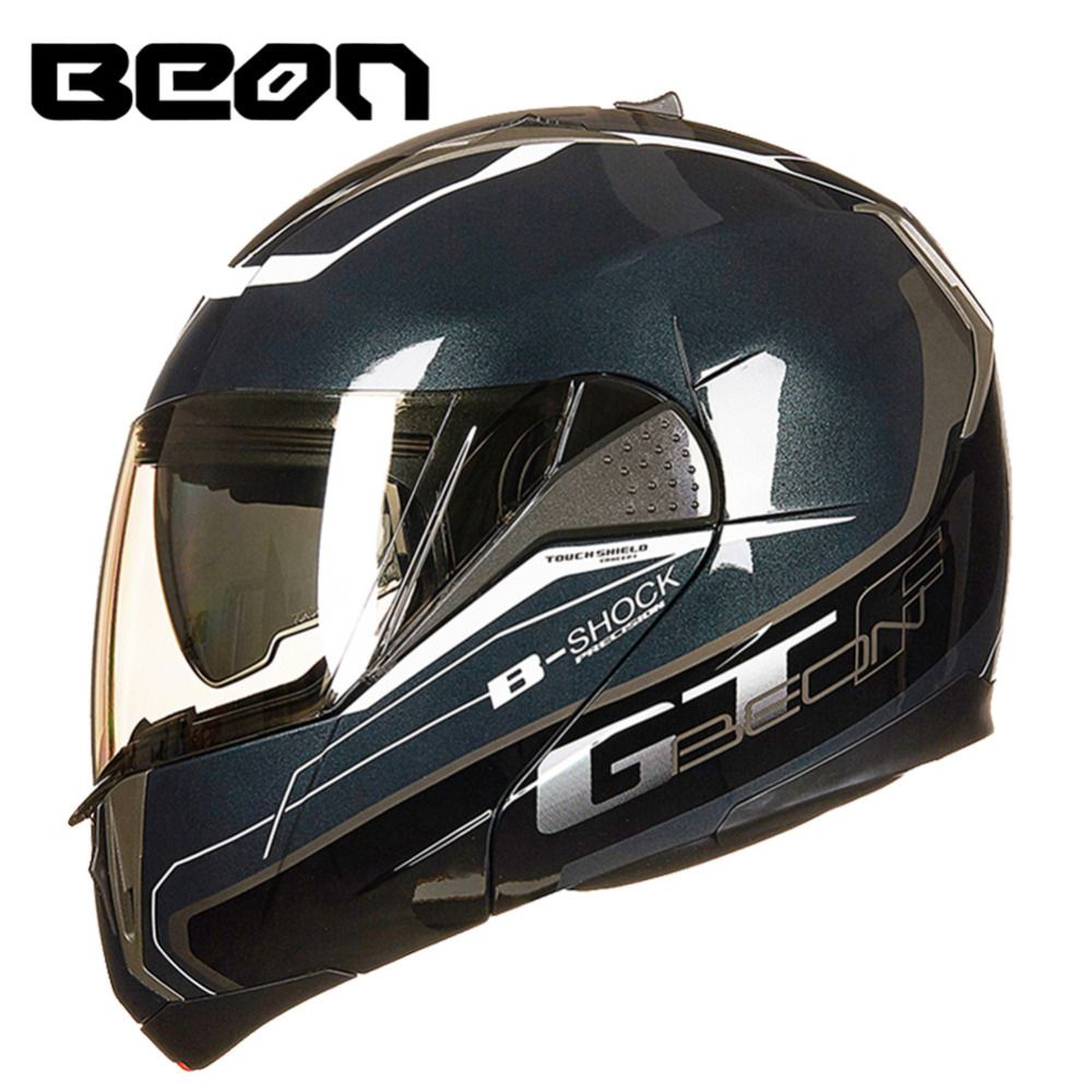 BEON Modular Motorrad Helm Flip up Öffnen Integralhelm Moto Casque Casco Motocicleta Capacete Dual Visiere Helme ECE