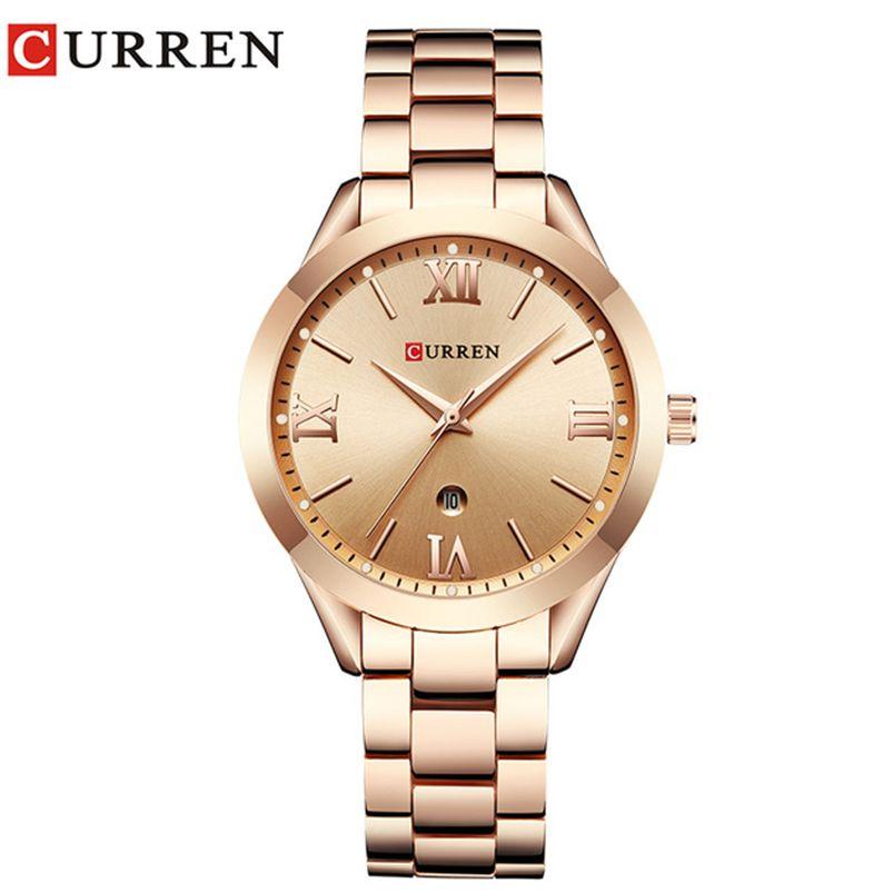 Jewelry Gifts For Women's Luxury Gold Steel Quartz Watch Curren Brand Women Watches Fashion Ladies Clock relogio feminino <font><b>9007</b></font>