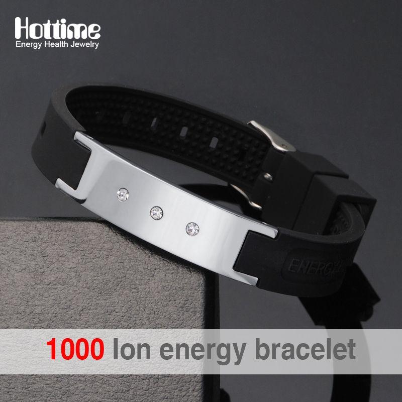 Bracelets hologramme énergie noire Bracelets garder l'équilibre Ion thérapie magnétique mode bandes de Silicone livraison gratuite
