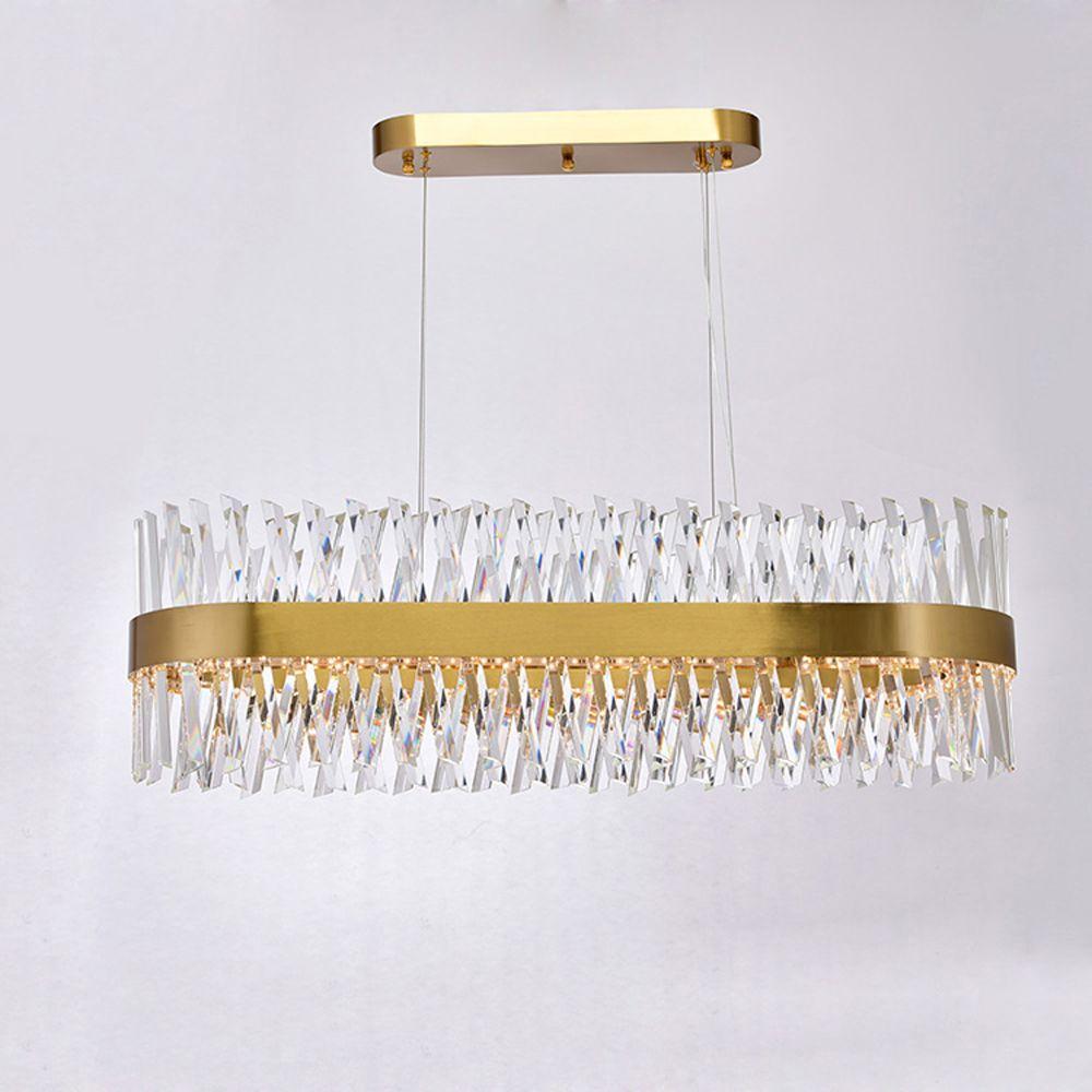 Luxus design moderne kristall kronleuchter LED licht AC110V 220 V lustre cristal esszimmer wohnzimmer lampe
