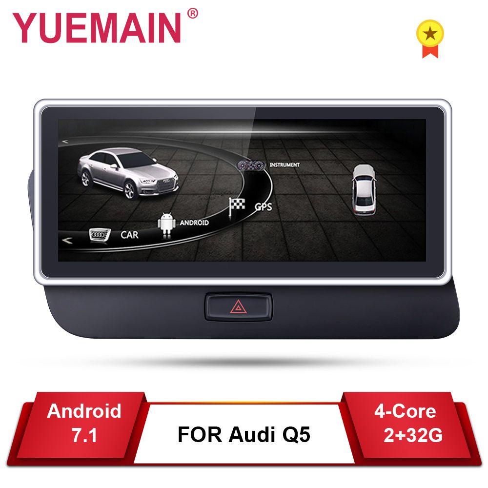 Auto DVD GPS-Player für Audi Q5 2009-2017 Android 7.1 Multimedia navigation Auto Radio2GB + 32GB 10,25'' IPS Bildschirm Hinten kamera