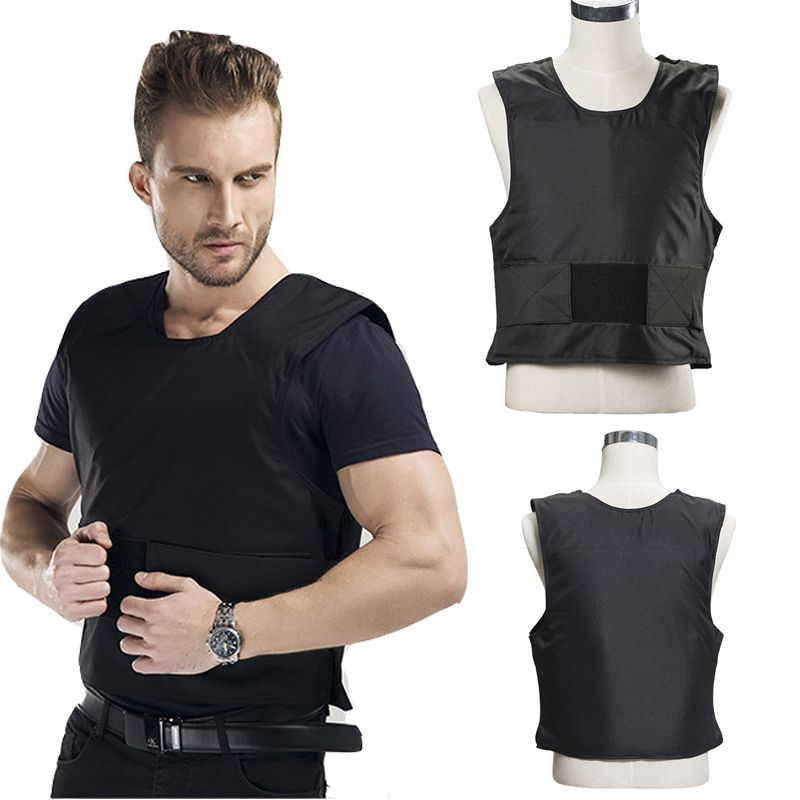 New 1 Layer Stab Resistant Vest Lightweight Soft For Police Use O-Neck Covert Schutzweste Tatico Self-Defense Anti Cut Stab Vest