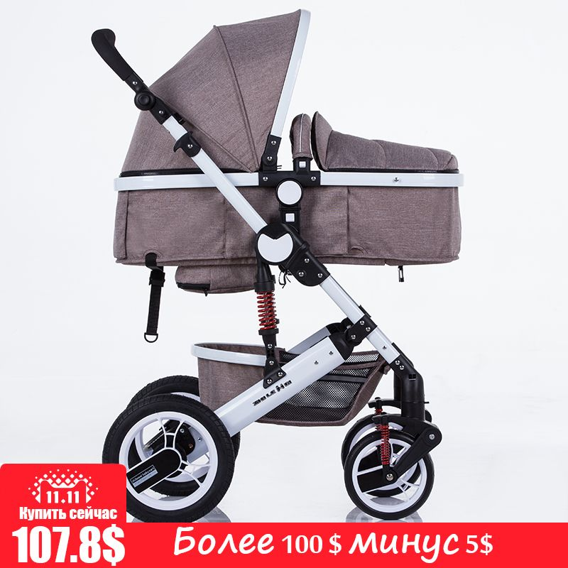 Zilemei baby stroller linen cloth multifunctional stroller of European high landscape design Convenient anti-mosquito design Sta