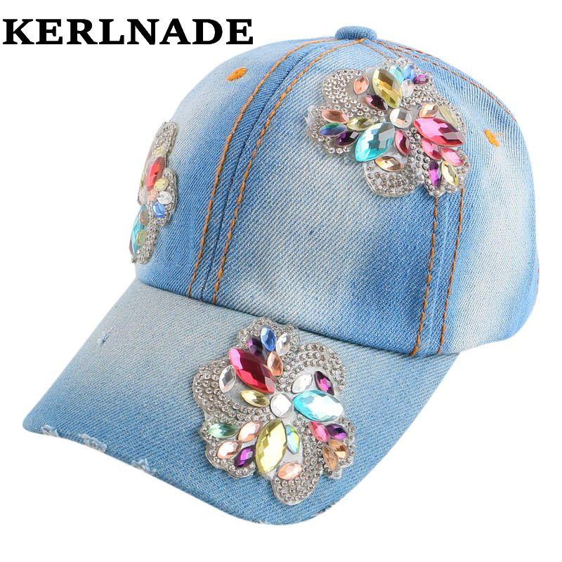Gros enfants casquettes mignon floral strass printemps été casquette de baseball pour fille enfants 4-11 ans hip hop snap back chapeau
