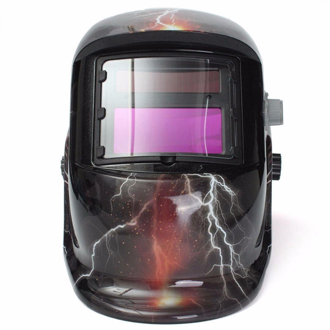 1pc Skull Ghost Lightning Pro Solar Auto-Darkening Welding Helmet Arc MIG Protective Welder Face Mask Mayitr