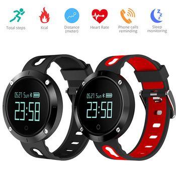 Dm58 Bluetooth Спорт браслет сердечного ритма Смарт часы Приборы для измерения артериального давления Мониторы IP68 Водонепроницаемый сердечного ...
