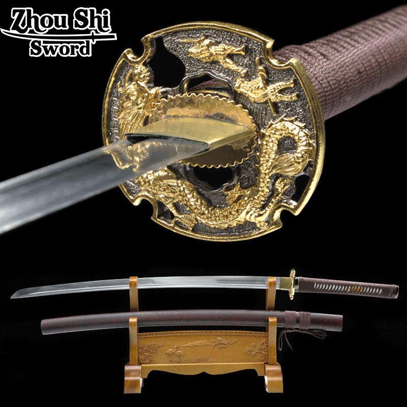 Echt handgemachte katana schwert schwert Japanischer Samurai 1060 schmiedestahl ninja dekorative souvenir katana