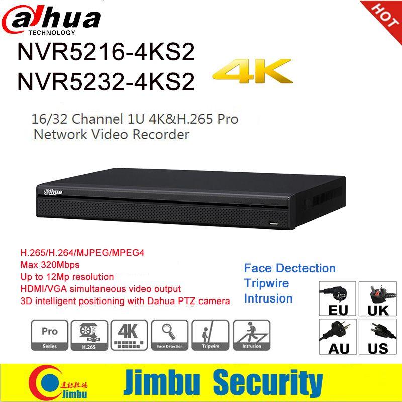 Dahua NVR 4 karat H.265 H.264 video recorder NVR5216-4KS2 16CH NVR5232-4KS2 32CH Für IP Kamera bis zu 12Mp auflösung Tirpwire DVR