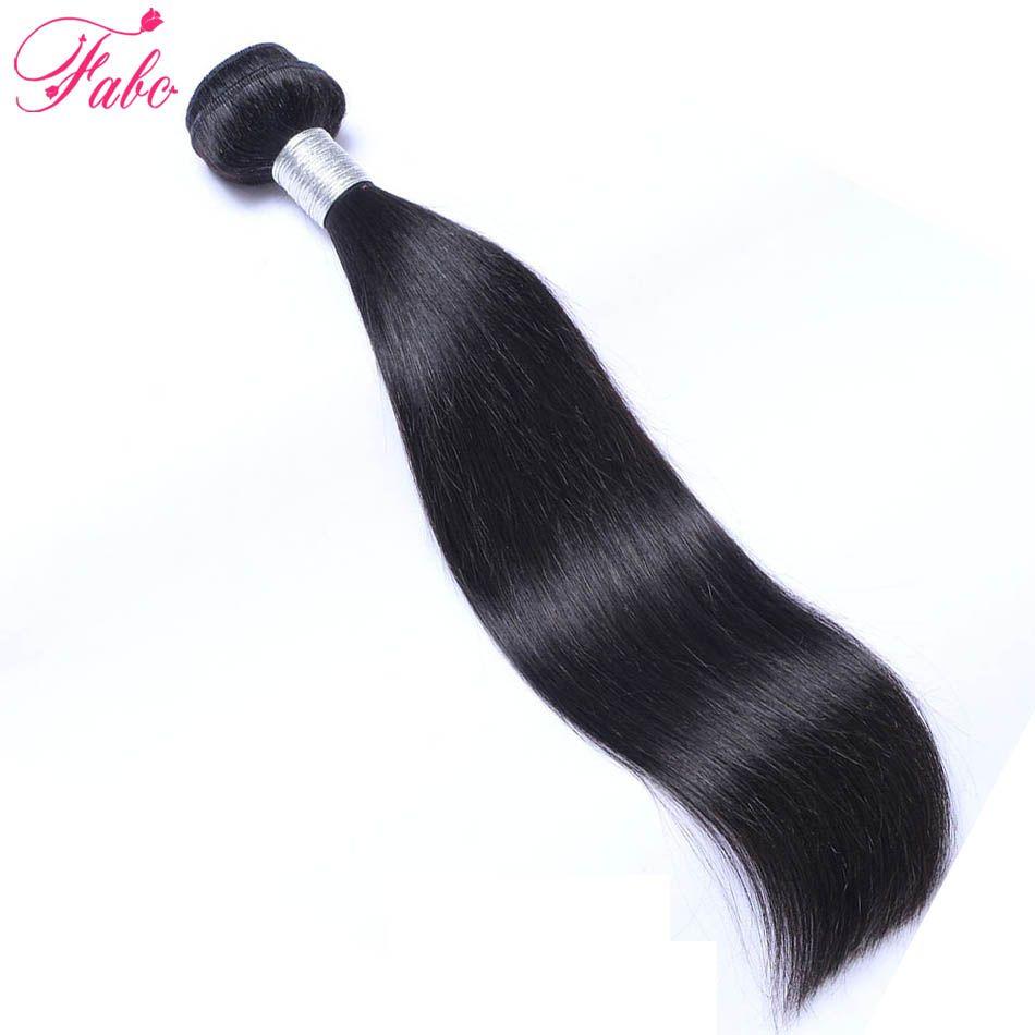 Fabc Бразильский прямые волосы ткань Комплект S 10-28 дюйм(ов) 100% Пряди человеческих волос для наращивания-Реми дважды утка 1 Комплект природа Цв...
