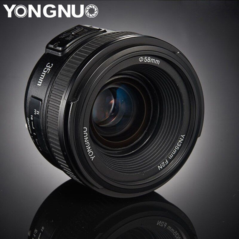 YONGNUO 35mm Lens YN35mm F2.0 AF/MF Fixed Focus F1.8 AF/EF Lens for Canon Nikon F Mount D3200 D3400 D3100 D5300 for DLSR Camera